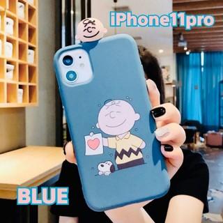 アイフォーン(iPhone)の【iPhone11pro】スヌーピーiPhoneケース♡ブルー(iPhoneケース)