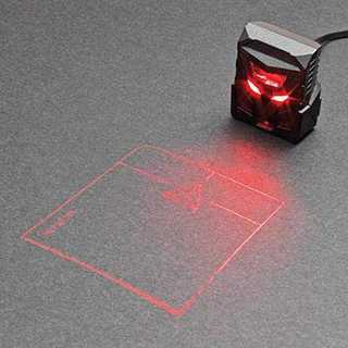 黒Serafim ODiN Aurora レーザー投影式マウス (黒) [並行輸(その他)