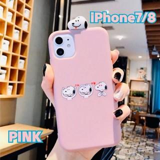 アイフォーン(iPhone)の【iPhone7/8】スヌーピーiPhoneケース♡ピンク(iPhoneケース)