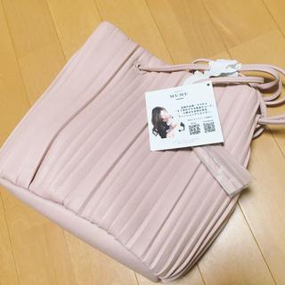 シマムラ(しまむら)の【新品タグ付き】しまむら MUMUコラボ プリーツ巾着バッグ ピンクベージュ(ハンドバッグ)