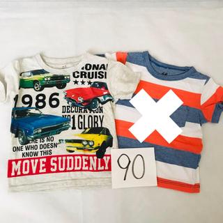 エイチアンドエム(H&M)の90 2枚セット H&M(Tシャツ/カットソー)