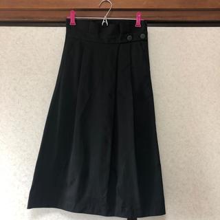 ザラ(ZARA)のZARA スカート ブラック(ひざ丈スカート)