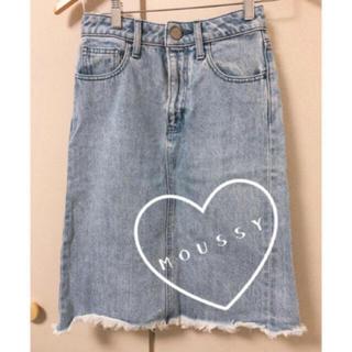 moussy - デザイン可愛い デニムスカート