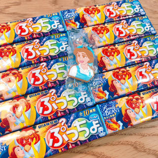 ディズニー(Disney)の【おまけ付き】ぷっちょ 美女と野獣 10本セット(菓子/デザート)
