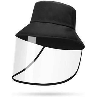 日除け帽子 TPU素材 透明ガード 取り外し可能 B306(その他)
