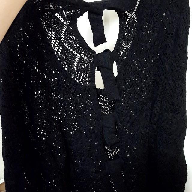 WEGO(ウィゴー)の【服処分】未着用 WEGO かぎ編み バックリボン レディースのトップス(ニット/セーター)の商品写真