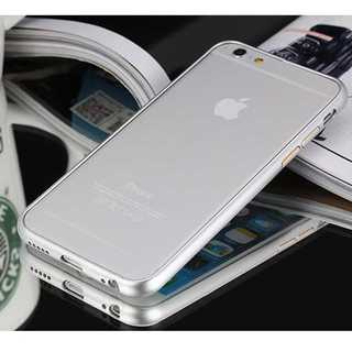 iPhone6plus/6splus シルバー アルミバンパーフレーム バンカー(モバイルケース/カバー)