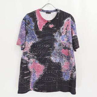 ラッドミュージシャン(LAD MUSICIAN)のラッドミュージシャン マップ ビッグ Tシャツ オーバーサイズ 地図(Tシャツ/カットソー(半袖/袖なし))