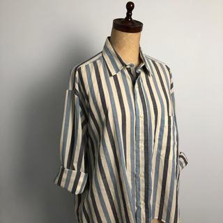 インディヴィジュアライズドシャツ(INDIVIDUALIZED SHIRTS)のUSA製 ストライプ 長袖 シャツ ユニセックス レディース  (シャツ/ブラウス(長袖/七分))