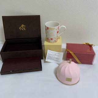 ★GODIVA★グランプラス空BOX 赤&茶/非売品限定カップ(菓子/デザート)