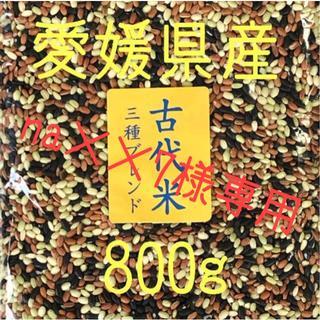 na××7様 古代米3種ブレンド愛媛県産 800g(米/穀物)
