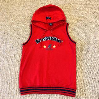 カンゴール(KANGOL)の試着のみ kangolSport  パーカー  ベスト 赤   送料無料(Tシャツ/カットソー)