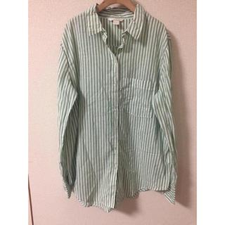 エイチアンドエム(H&M)のH&M ストライプシャツ  (シャツ/ブラウス(長袖/七分))
