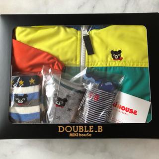 DOUBLE.B - DOUBLE.B ウインドブレーカー90㎝&靴下3足(11〜13㎝)