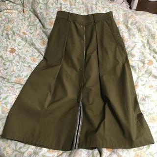 アバハウスドゥヴィネット(Abahouse Devinette)のカトルナフ Rough vif スカート(ひざ丈スカート)