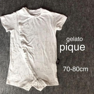 ジェラートピケ(gelato pique)のジェラートピケ 半袖 カバーオール  ロンパース 70cm(カバーオール)