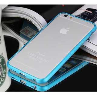 iPhone6plus/6splus ブルー アルミバンパーフレーム バンカー(モバイルケース/カバー)