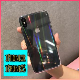 【特価】iPhoneケース オーロラホログラム クリアケース  スマホカバー(iPhoneケース)