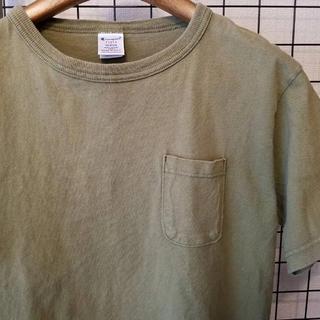 チャンピオン(Champion)のUSA製 champion T1011 ポケット付き 半袖カットソー/Tシャツ(Tシャツ/カットソー(半袖/袖なし))