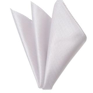 メンズポケットチーフ白(ハンカチ/ポケットチーフ)