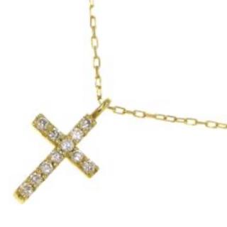 AHKAH - 美品 K18 ダイヤクロスネックレス