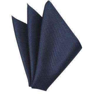 メンズポケットチーフ紺(ハンカチ/ポケットチーフ)