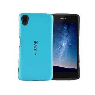 SONY Xperia iFaceZ5 ブルー シンプル メンズ レディース 大(モバイルケース/カバー)