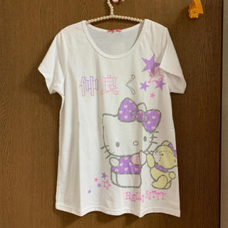 サンリオ(サンリオ)のキティちゃんT(Tシャツ(半袖/袖なし))