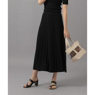 アンデミュウ(Andemiu)のAndemiu プリーツニットスカート 黒(ロングスカート)