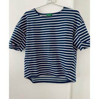 アースミュージックアンドエコロジー(earth music & ecology)のボーダーカットソー Tシャツ フリーサイズ(Tシャツ(半袖/袖なし))