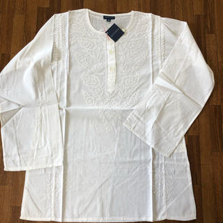 アンティックバティック(Antik batik)の涼しく可愛い!ANTIK BATIK刺繍 長袖カットソー M ホワイト(シャツ/ブラウス(長袖/七分))