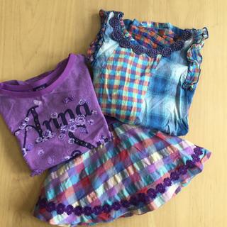 アナスイミニ(ANNA SUI mini)のアナスイミニ  3枚セット 100(Tシャツ/カットソー)