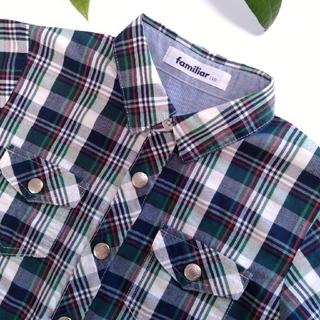 ファミリア(familiar)のファミリア チェックシャツ 110 美品(ブラウス)