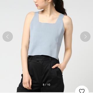 コモリ(COMOLI)のAURALEE スクエアネックキャミソール(Tシャツ(半袖/袖なし))