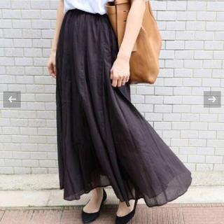 IENA - IENA イエナ  コットンボイル ギャザーパネルスカート ブラック
