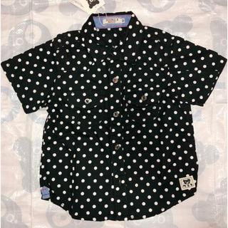 ダブルビー(DOUBLE.B)の新品タグ付き ミキハウス ダブルB ドットシャツ 100(ブラウス)