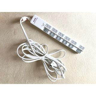 エルパ(ELPA)の☆ELPA 節電 スイッチ付 電源タップ 6口 ホワイト白 5m☆(その他)