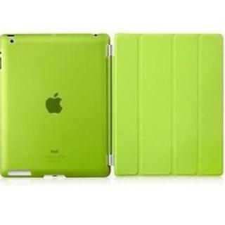 iPad ケース グリーン オートスリープ スタンド機能 iPad2/3/4対応(その他)