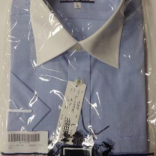 ☆ラスト1枚☆ 半袖シャツ L メンズ ビジネス ワイシャツ クールビズ(シャツ)