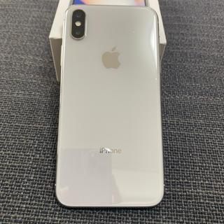 アイフォーン(iPhone)の中古美品 Simフリー iPhoneX 256GB シルバー(スマートフォン本体)