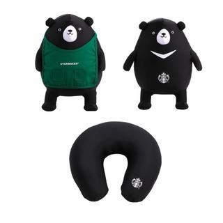 Starbucks Coffee - スターバックス:トラベルクッション 黒熊  ロゴ 台湾 スタバ