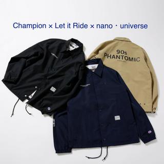 ナノユニバース(nano・universe)のChampion/別注コーチジャケット L ネイビー(ブルゾン)