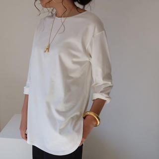 ARGUEアーギューGIZAndy cotton T-SHIRT/WHITE(Tシャツ(長袖/七分))