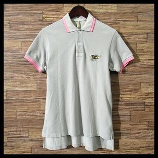 サイ(Scye)の希少 サイベーシックス ビッグ 刺繍 ロゴ ワッペン 鹿の子 ポロシャツ M(ポロシャツ)