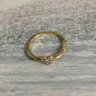アーカー(AHKAH)の最終価格❗️AHKAH ハートパヴェリング(リング(指輪))