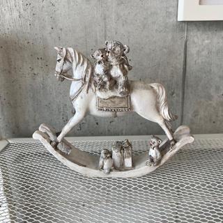 木馬 置物 メリーゴーランド クリスマス 飾り(彫刻/オブジェ)