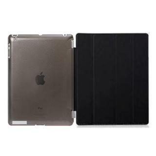 iPad ケース ブラック オートスリープ スタンド機能 iPad2/3/4対応(その他)
