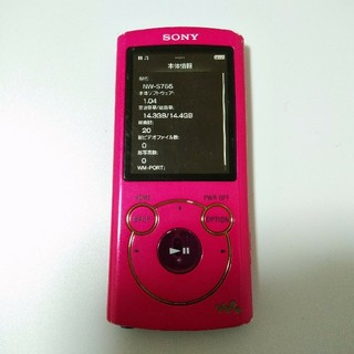 ウォークマン(WALKMAN)のNW-S765 16GB ビビットピンク ウォークマン SONY(ポータブルプレーヤー)