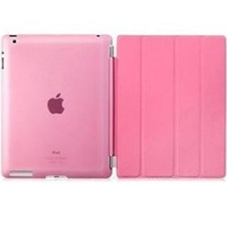 iPad ケース ピンク オートスリープ スタンド機能 iPad2/3/4対応(その他)