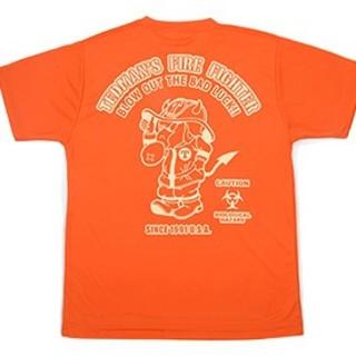 テッドマン(TEDMAN)のテッドマン/ドライTシャツ/オレンジ/tdryt-800/カミナリ(Tシャツ/カットソー(半袖/袖なし))
